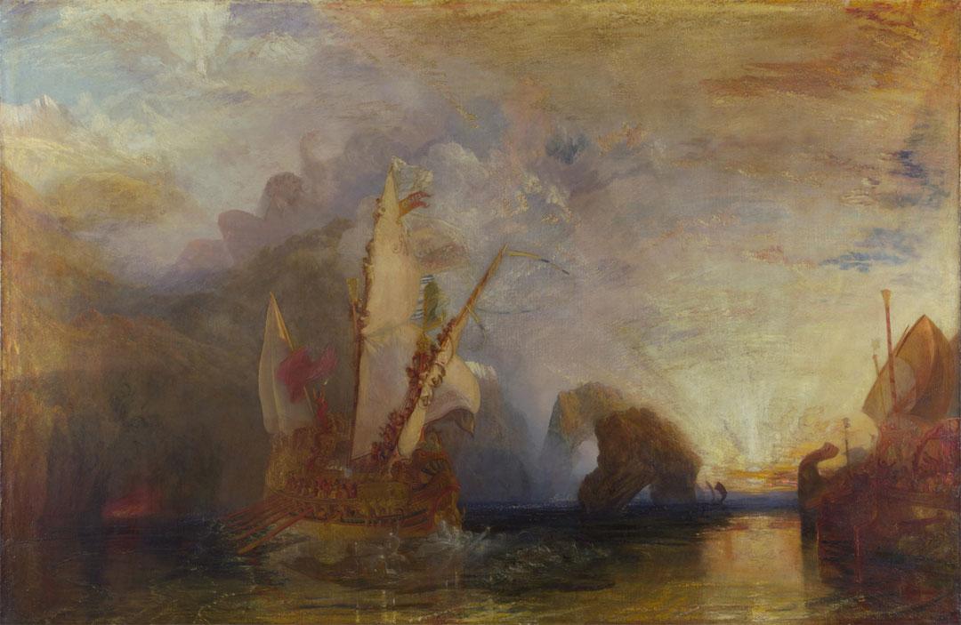 Ulysses deriding Polyphemus - Homers Odyssey