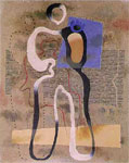 Standing Figure with Blue Plane