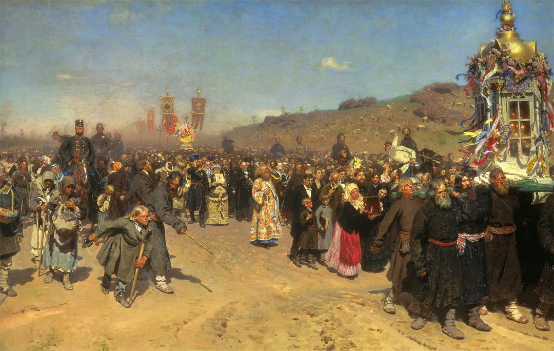 Easter Procession in the Region of Kursk
