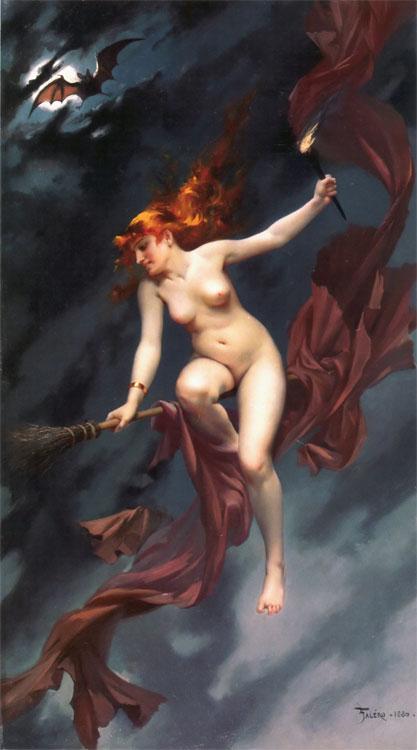 La sorcière allant au Sabbat