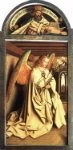 Angel Annunciate, from exterior of left panel of the Ghent Altarpiece