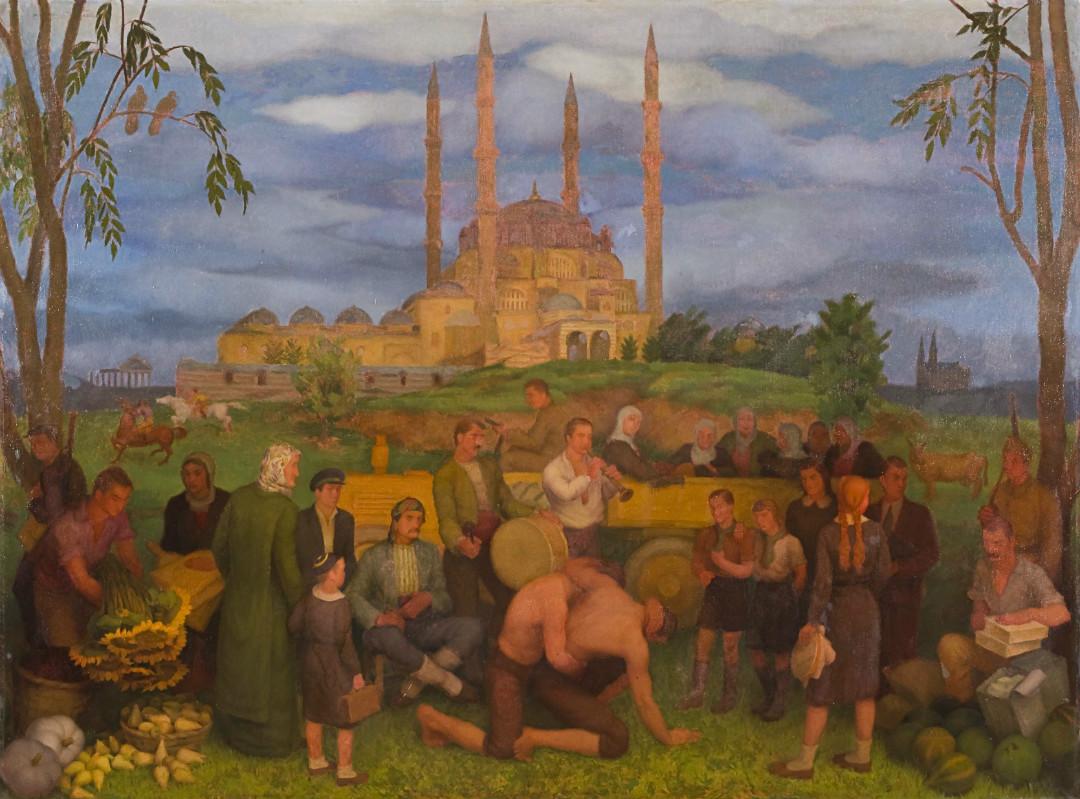 Selimiye Camii Önünde Kırkpınar